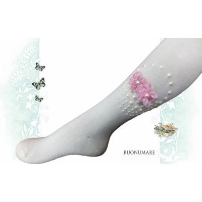 Колготки Buonomare, Корзинка из бусин с цветами, размер 1