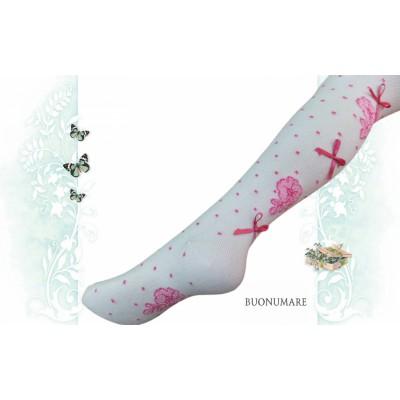 Колготки Buonomare, В горошек с бантиками и цветочками