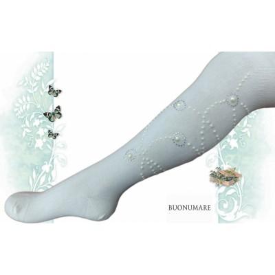 Колготки Buonomare, Веточки из страз и бусин, размер 1