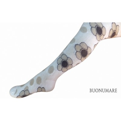 Колготки Buonomare, цветы/горох.9 размер