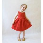 Платье кружевное красное