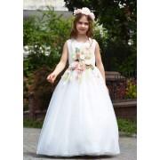 платье длинное с цветами